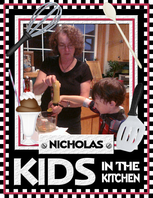 Custom Cookbook Cover Sample for Volume 2: Kids in the Kitchen